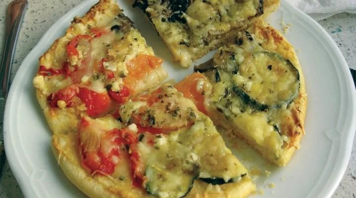 Pizza de legumes, mate sua fome de pizza sem matar sua dieta