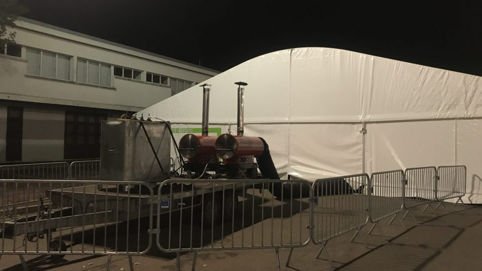 Canon à chaleur pulsée EC85 Sovelor pour chauffer une tente