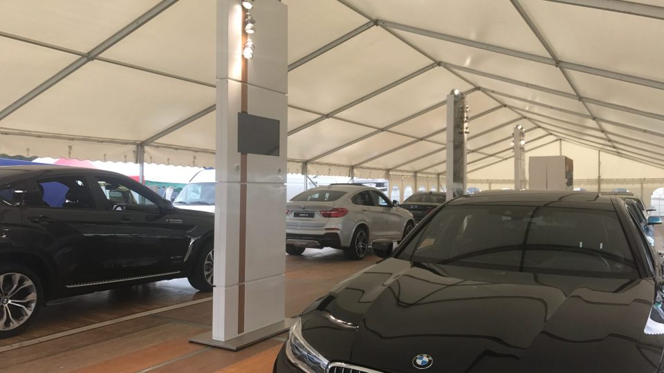 Stand d'exposition pour BMW