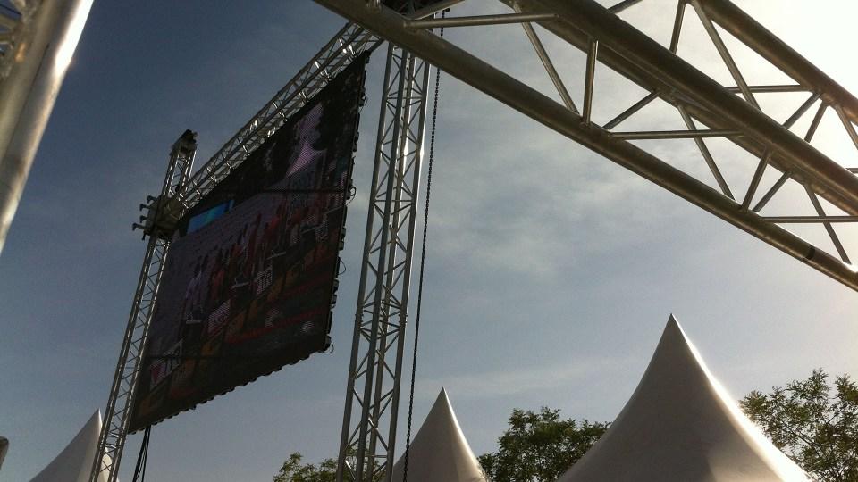 Ecran géant P7 outdoor pour une manifestation sportive