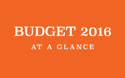 Budget 2016 At a Glance