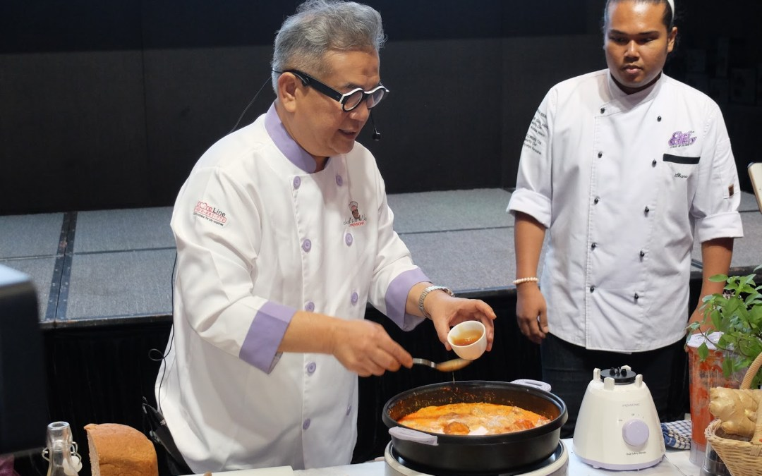 How a Malaysian celebrity chef uses his illness as inspiration?
