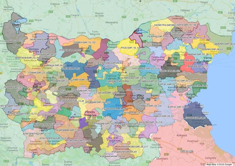 карта на българия мажоритарни избори