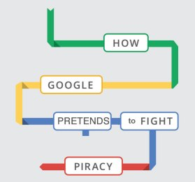 Google pretends to fight piracy