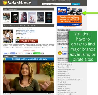ad sponsored piracy