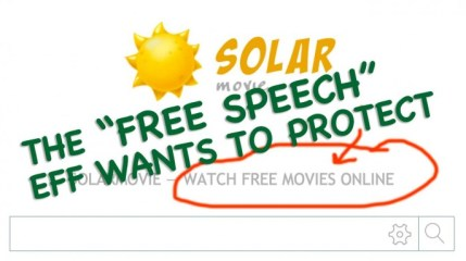 Free movies = free speech?