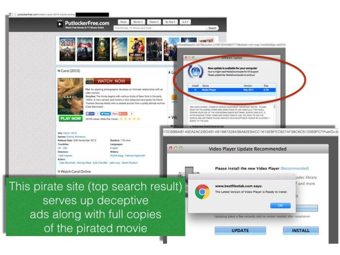 Google pirate search results