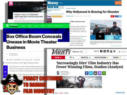 Piracy hurts film industry