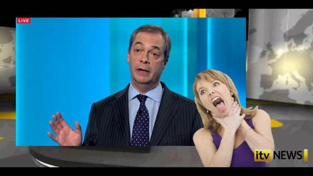 Extreme: The signed version of Thursday's leader debate provided this interpretation of a Nigel Farage comment.