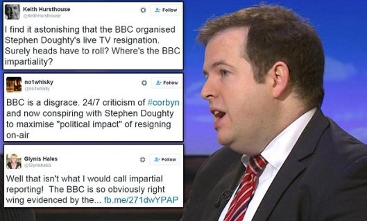 Stephen Doughty's resignation provoked a storm on the social media [Image: Daily Mail].