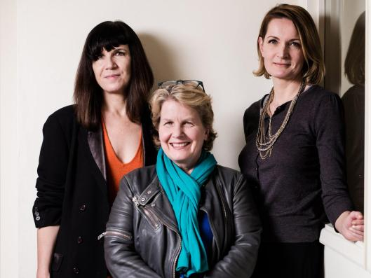 The founders of the Women's Equality Party; Catherine Mayer, Sandi Toksvig and Sophie Walker [Image: Charlie Forgham Bailey].