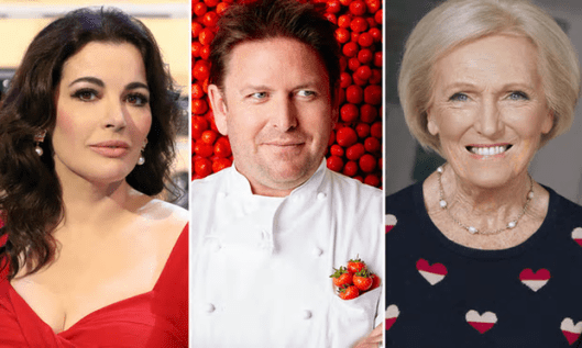 Recipes by TV chefs such as Nigella Lawson, James Martin and Mary Berry will be removed from the BBC website [Image: Getty/BBC].