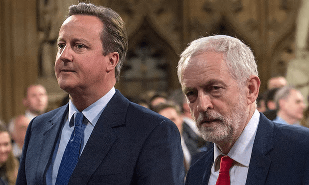 Jeremy Corbyn said David Cameron's tuition fee proposals would get no support from Labour. And George Osborne? Nowhere to be seen. [Image: Stefan Rousseau/AFP/Getty Images].