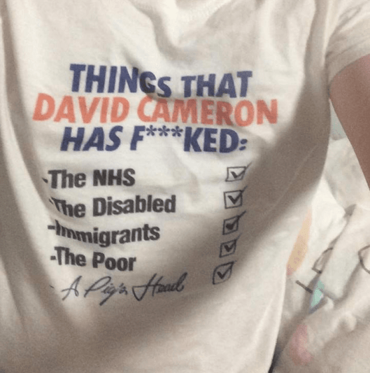 160519 Things David Cameron has f-cked t-shirt