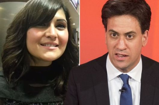 Racist: Gulzabeen Afsar made an anti-Semitic comment about Ed Miliband [Composite: YouTube/Getty].