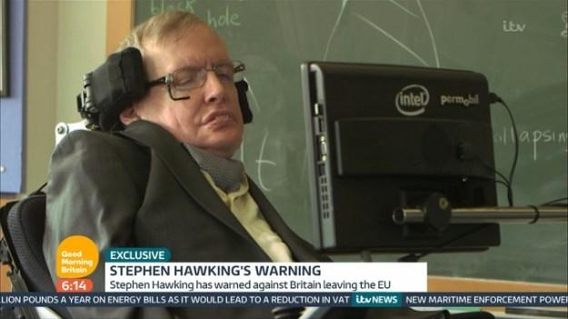 Professor Hawking [Image: ITV/Good Morning Britain].