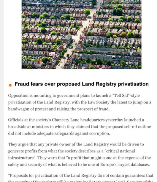 160601 land registry fraud fears