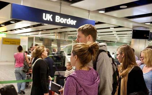 Crossing the line: Don't believe the sabre-rattlers who want to blame foreign migrants for the UK's troubles.
