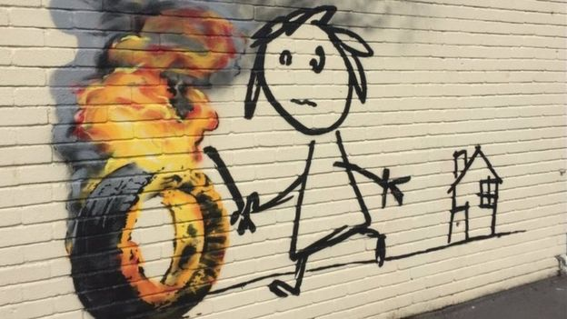 Banksy: The school had recently named one of its houses after the artist.