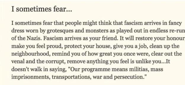 160621 Michael Rosen on Fascism