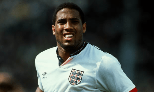 John Barnes, representing England in 1988: 'A leave vote now says that we don't really care about anyone else.' [Image: Stewart Kendall/Sportsphoto Ltd.]