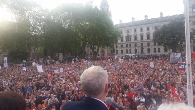 Jeremy Corbyn has the support of hundreds of thousands of Labour Party members, but that is worthless if they don't stand up and show it (as they did in Parliament Square on June 27). You can show your displeasure with the Labour mutineers by signing this petition [Image: John McDonnell.]