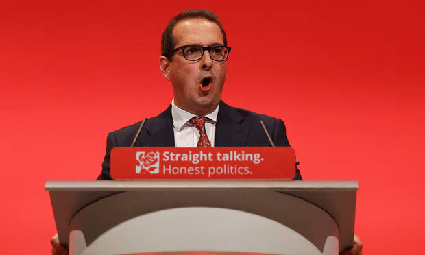 Splitting the splitters: Owen Smith has triggered in-fighting between factions among Jeremy Corbyn's opponents - all of whom have, of course, betrayed the slogan on the podium shown here [Image: Gareth Fuller/PA].