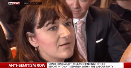 Walkout: Ruth Smeeth MP.