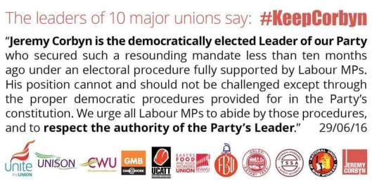160701 Unions statement