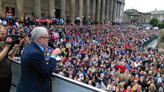 Jeremy Corbyn has more support than any other UK political leader.
