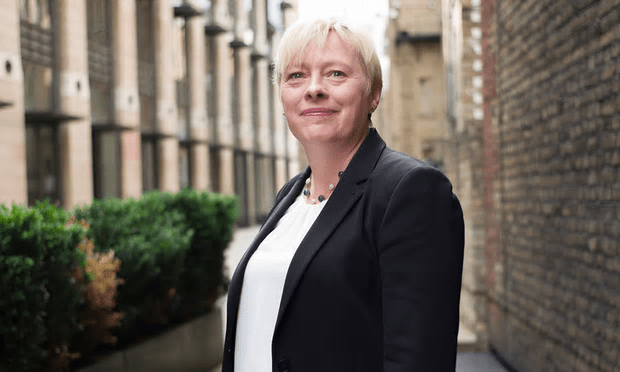 Angela Eagle: She won't be smiling for long [Image: Graeme Robertson for the Guardian].