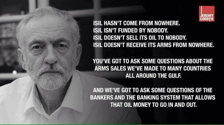Jeremy Corbyn's opinions of Daesh (or IS, or ISIL, or ISIS - they're vile, whichever name they use).