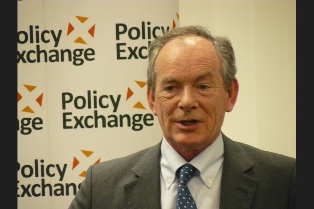 "Simon Jenkins speaking at Policy Exchange, the right-wing think tank described as ""the intellectual boot camp of the Tory modernisers"". So now we know his politics [Image: Policy Exchange]."