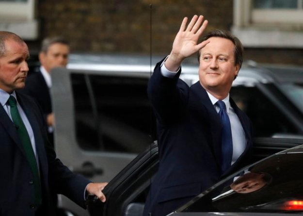 Good riddance: David Cameron killed his own political career by following policies that made people more likely to oppose him in the EU referendum: [Image: Frank Augstein/AP].