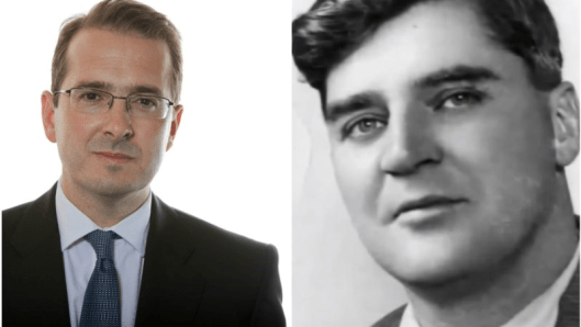 Owen Smith (left) and Aneurin Bevan (right). To reflect their political positions they should really have been on opposite sides of this composite.