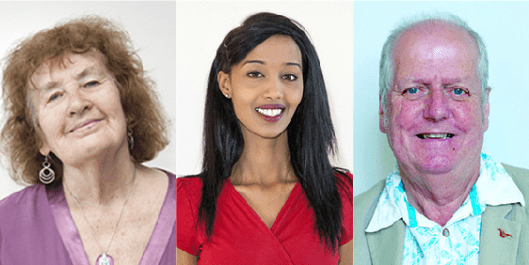 The three councillors, (L-R) Harriet Bradley, Hibaq Jama, and Mike Langley. Labour had won a slim majority of 37 seats out of 70 in Bristol, but now that number is down to 34 [Images: Bristol City Council].