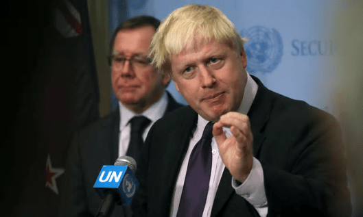 Boris Johnson suggested the talks could take less than the two years article 50 allows [Image: Andrew Kelly/Reuters].