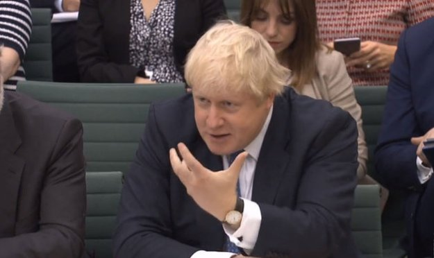 Boris Johnson gives evidence to the Foreign Affairs Committee in Portcullis House, London [Image: PA/PA Wire].
