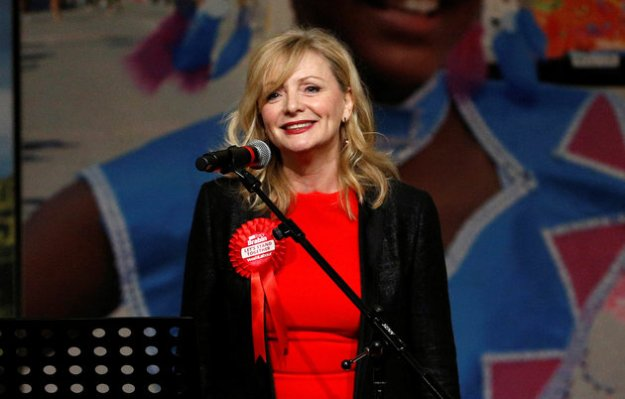 Tracy Brabin gives her victory speech after winning the by-election in murdered Labour Party MP Jo Cox's Batley and Spen constituency [Image: Craig Brough/Reuters].