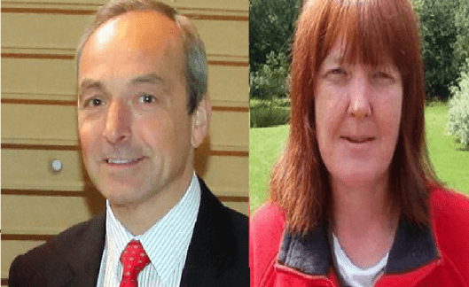 "Mark James (left) used taxpayers' money to sue Jacqui Thompson (right) for libel, claiming she had waged a campaign of ""harassment, intimidation and libel"" against council staff."