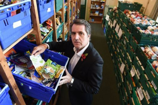 Steve Rotheram MP in the warehouse [Image: Liverpool Echo].