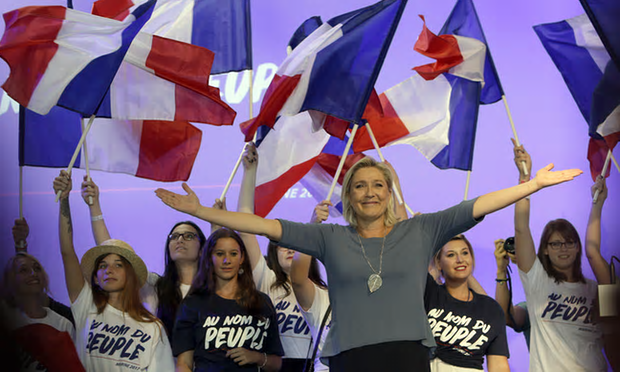 Much of the criticism of the BBC's decision to screen an interview with Marine Le Pen focused on good taste as much as political judgment.' [Image: Claude Paris/AP.]