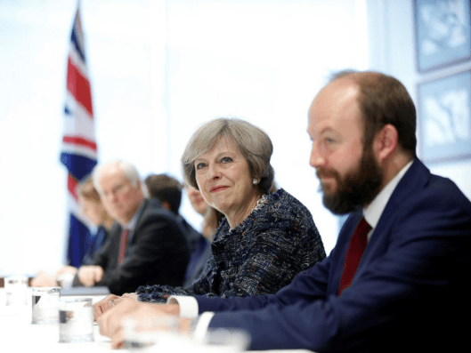 Theresa May with her joint chief of staff Nick Timothy [Image: Reuters].
