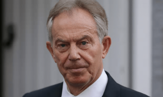 Tony Blair praised Theresa May as a 'very solid, sensible person'. [Image: Daniel Leal-Olivas/AFP/Getty Images].