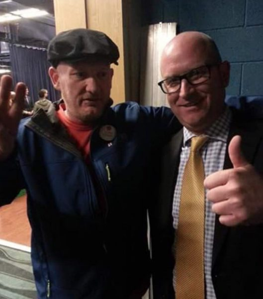 The EDL's Andy Edge with Paul Nuttall of UKIP [Image: EDL News].
