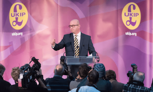 Ukip leader Paul Nuttall. 'We are now in with a realistic chance of breaking the political cartel in Westminster.' [Image: Ray Tang/Rex/Shutterstock].