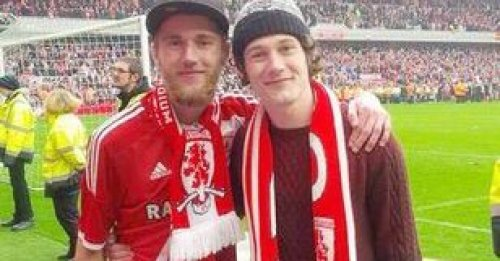 Tributes have been paid to devoted Middlesbrough fan David Brown, pictured (left) with his brother Adam (right).