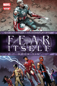 An issue of Marvel's confusing crossover event Fear Itself