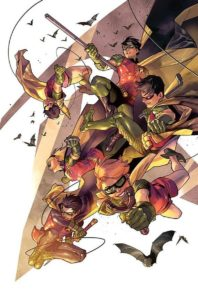 A collection of Robins... the definitive comic point of view character.