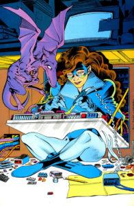 Kitty Pryde, fixing a circuit board. The definitive example of Matt Linton's Fanboy Gaze.